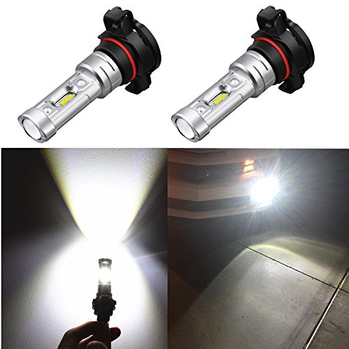 Alla Lighting 2018 Newest Version 2600 Lumens High Power 1919-SMD Extremely Super Bright 6000K Xenon White 2504 PSX24W 12276 LED Bulb for Fog Light Lamps Bulbs Replacement