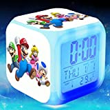 Enjoy Life : Cute Digital Multifunctional Alarm Clock With Glowing Led Lights and Super Mario sticker, Good Gift For Your Kids, Comes With Bonuses Part 3 (16)