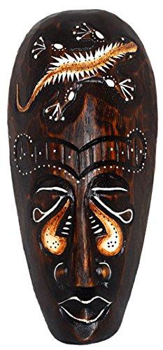Masque peint 20 cm en bois de bali masque en forme de tête