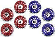 TORPSPORTS(Dia.53mm) 2-1/8'' Shuffleboard Pucks, Set of 8