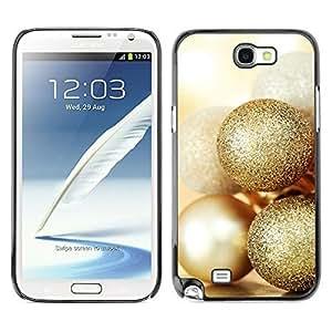 YOYO Slim PC / Aluminium Case Cover Armor Shell Portection //Christmas Holiday Gold Balls 1113 //Samsung Note 2Kimberly Kurzendoerfer
