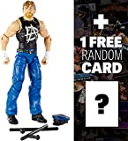Dean Ambrose w/ Cop's Hat & Nightsticks: WWE Elite Collection Action Figure + 1 FREE Official WWE Trading Card Bundle