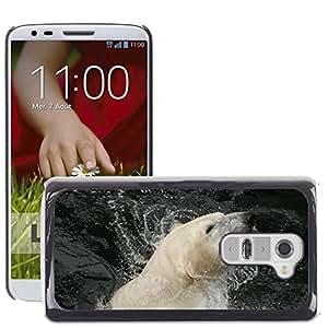 GoGoMobile Slim Protector Hard Shell Cover Case // M00119074 Polar Bear White Bear Zoo Wildlife // LG G2 D800 D802 D802TA D803 VS980 LS980