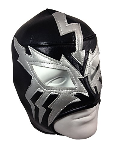 [ELECTRICO Adult Lucha Libre Wrestling Mask (pro-fit) Costume Wear - Black/Grey] (Wwe Wrestling Costumes For Adults)
