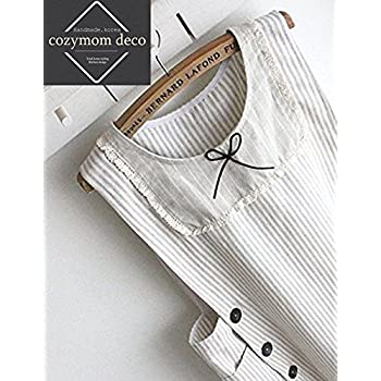 40% Sale Home Gift Chef Apron Japanese Style Side Button Cotton Apron-beige Color (One Size)