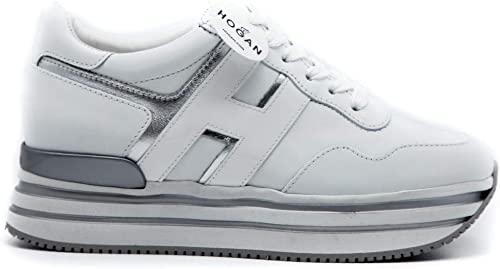 Hogan Sneaker Donna H483 Argento Bianco HXW4830CB81IEC0351 36.5 ...