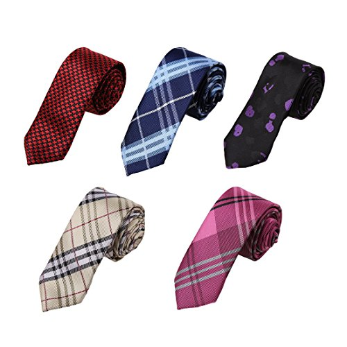 DANF0048 Various Colors Polyester Slim Ties Love Shopstyle Skinny Ties - 5 Styles Available Selection Accessories By Dan Smith (Necktie Slim)