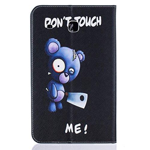 Trumpshop Smartphone Carcasa Funda Protección para Samsung Galaxy Tab A 8.0 Pulgadas (T350) + Mariposas Verdes + PU Cuero Caja Protector Billetera Choque Absorción Dont Touch Me (Cuchillo)