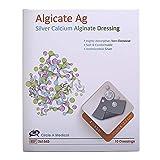 Algicate Ag Silver Calcium Alginate Wound Dressing Sterile, 4'' x 5'' (Box of 10)