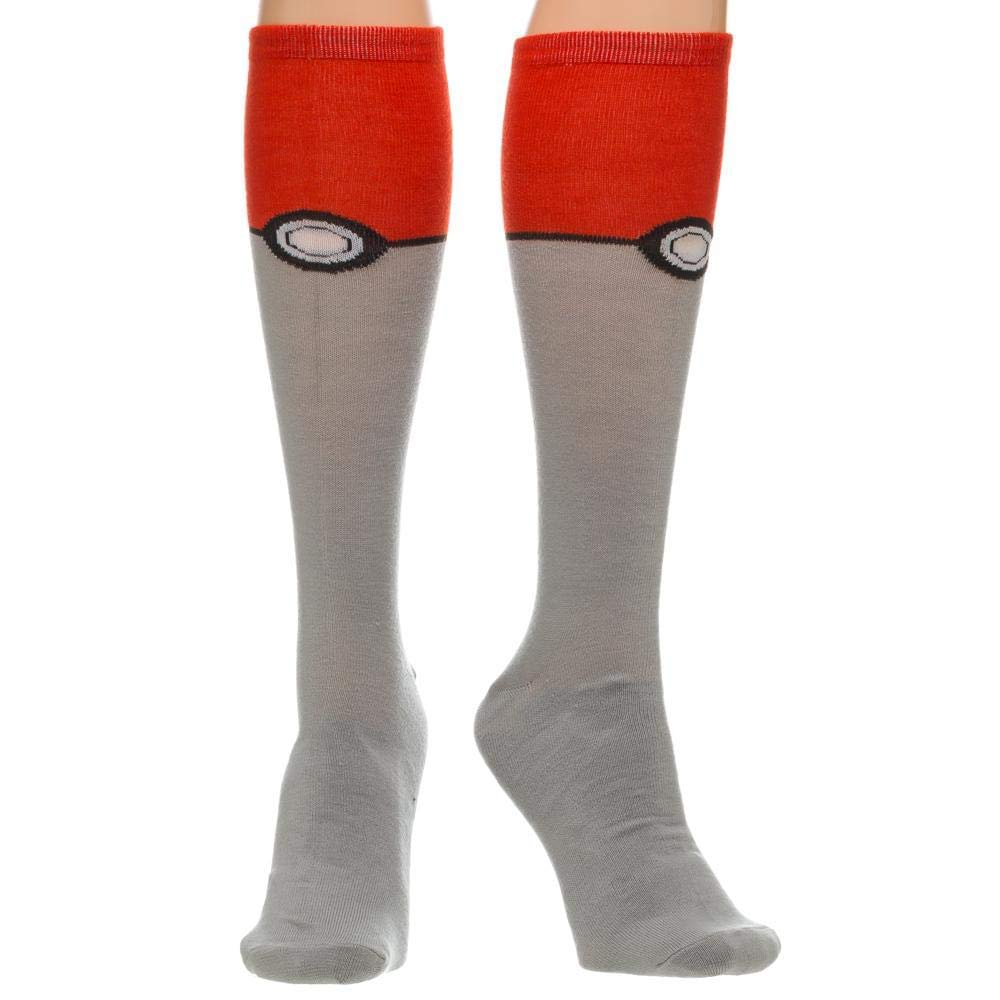 Bioworld Pokemon Pokeball Knee High Calcetines KH1ALFPOK