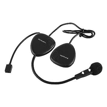 Qiilu Motocicleta V1-2A Auriculares Bluetooth Casco Auricular Inalámbrico Manos Libres Auricular de Llamada