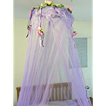 Octorose ® Flower Top Around Bed Canopy Mosquito Net for Bed, Dressing Room, Out Door Events (Purple)
