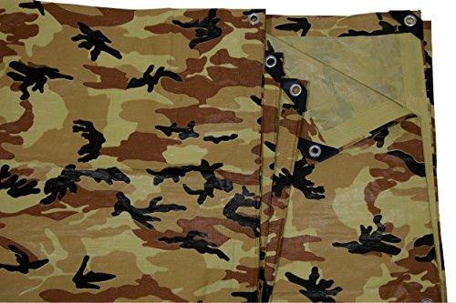 8' Camo (6' x 8' Beige/Tan Camouflage Print Tarp)