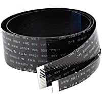 1mm Pitch 14+6Pin Flexible Flat Cable FFC FPC Wire Black 80cm