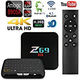 APTC 3GB RAM 32GB Quad-Core Z69 1080p 4K 3D Android 7.1 Amlogic S905X Dual Wifi Bluetooth 4.1 TV Box+Touchpad Wireless Keyboard Remote