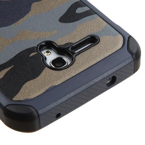Alcatel OneTouch Fierce XL 5054 Case - Armatus Gear (TM) Slim Hybrid Armor Case Dual Layer Protective Phone Cover for Alcatel OneTouch Fierce XL 5054 - Camo Navy Blue