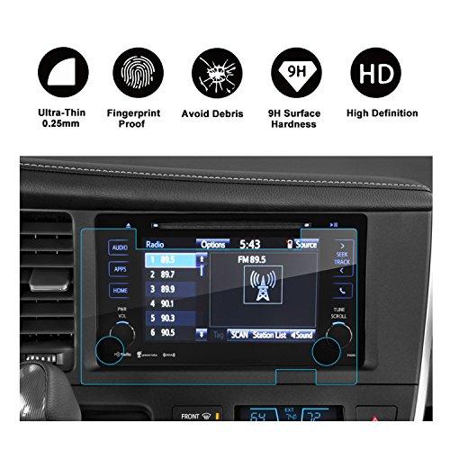 RUIYA 2015-2017 Toyota Sienna 7-Inch In-Dash Screen Protector, HD Clear Tempered Glass Car Navigation Screen Protective Film