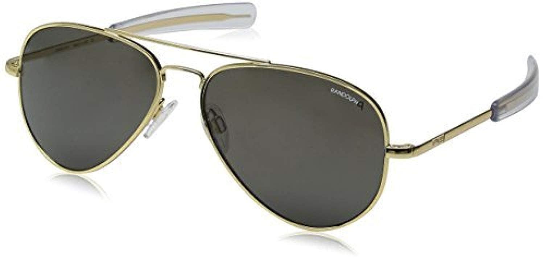 c229802bff Amazon.com  Randolph Concorde 23K Gold Bayonet Temple Gray Non-Polarized  Sunglasses  Clothing