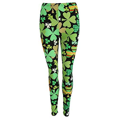 DM Merchandising Two Left Feet Lovely St. Patricks Day Lucky Leprechaun Shamrock Green Irish Leggings
