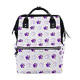 Best OXA Laptop Backpacks - Backpack Purple Paw Prints Mens Laptop Backpacks Shoulder Review
