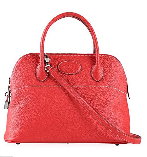 Handbag Women's Bag Handle Top Shoulder Red Bag Padlock Hobo Ainifeel Shell XwfdXx