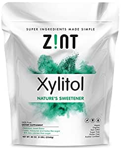 Zint Xylitol: Non-GMO, All-Natural Sweetener and Sugar Substitute (5 lbs)