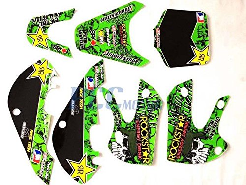 Graphics Decal Kit (10Z ROCKSTAR METAL MULISHA GRAPHICS DECAL KIT KAWASAKI KLX110 KLX 110 KX 65 DE66)
