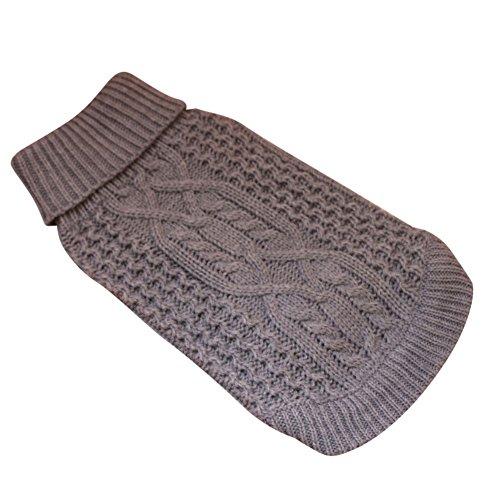 PanDaDa Turtleneck Stripes Pet Clothes Dog Wool Classic Hooded Sweaters Fashion Dog ()