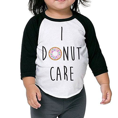 SH-rong I Donut Care Toddler Baseball Tee Size4 Toddler (Luce Sunglasses)