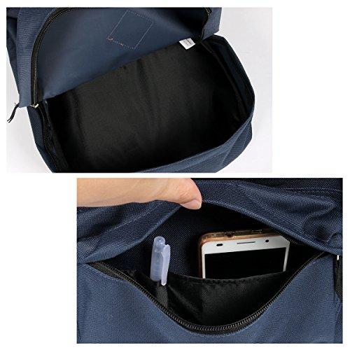 Advocator - Mochila escolar Casual color sólido Pig Nose chic simple clásica y resistente mochila para niñas y niños., azul (azul) - Sac à dos adaptable Advocator azul