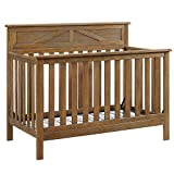 Baby Relax Hathaway 5-in-1 Convertible Crib, Rustic Coffee For Sale