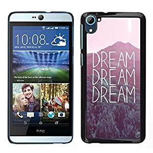 Impact Case Cover with Art Pattern Designs FOR HTC Desire D826 Dream Text Sunset Nature Inspiring Message Betty shop