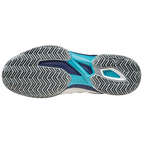 Mizuno Wave Exceed SL CC Tennis Shoes white - navy - blue pO6EfE2