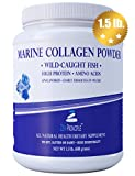 Large 1.5 lb. Marine Collagen Peptides Powder. Wild-Caught Fish, Non-GMO. Supports Healthy Skin, Hair, Joints and Bones. Hydrolyzed Type 1 & 3 Protein. Amino Acids, Unflavored, Easy to