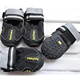 """Colorfulhouse Waterproof Pet Boots for Medium to Large Dogs Labrador Husky Shoes 4 Pcs (Black, 8 (3.3""""x2.9""""))"""