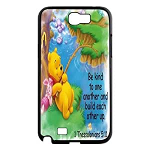 Art print Winnie the Pooh Hard Plastic phone Case Cover+Free keys stand For Samsung Galaxy Note 2 Case ZDI050624