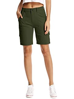 Women's Clothing Eddie Bauer Womens Olive Green 100% Cotton Cargo Shorts Free Shipping