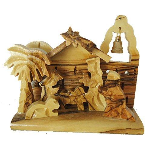 (Zuluf Olivewood Olive Wood Bethlehem Nativity Scene Set Holyland NAT012)
