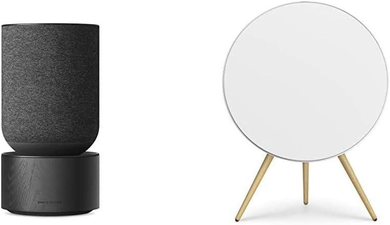 Bang & Olufsen Beosound Balance Wireless Multiroom Speaker, Black with Beoplay A9 4th Gen Wireless Multiroom Speaker, White