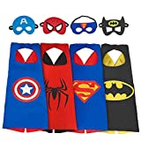 My-My Toys for 3-10 Year Old Boys, Superhero Capes for Kids 3-10 Year Old Boy Gifts Boys Cartoon Dress up Costumes Party Supplies for Boys age 3-12 4 Pack MMEPF01