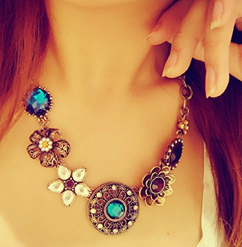 Leiothrix Hot Bohemian Vintage Alloy Necklace with Flower