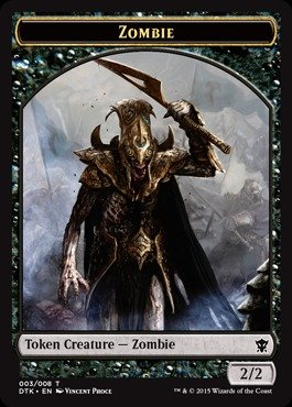 - Magic: the Gathering - Zombie Token (003/008) - Dragons of Tarkir
