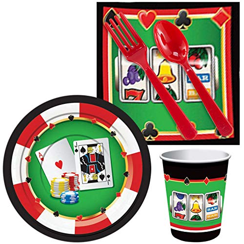 BirthdayExpress Casino Party Supplies Snack Pack for 16 ()