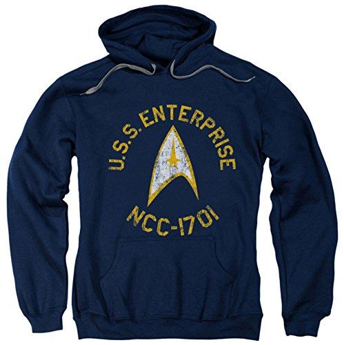 Hoodie: Star Trek - Collegiate Pullover Hoodie Size L - Collegiate Hooded Pullover