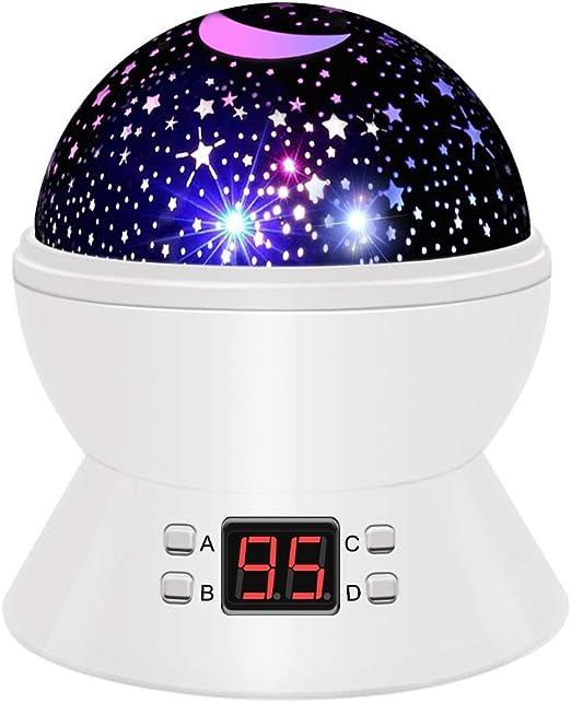 Luz del proyector del Cielo Estrellado, lámpara de Luna Luz ...