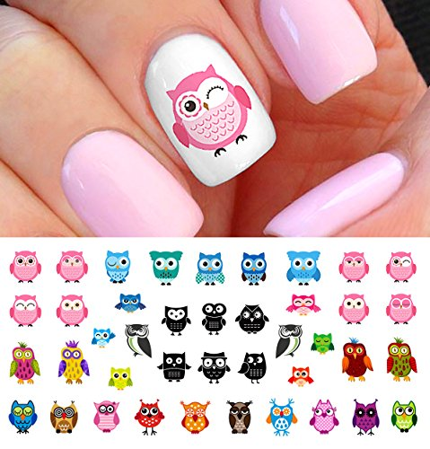 Owl Assortment Nail Art Waterslide Decals Set #1 - Salon