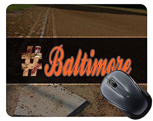 BleuReign(TM) Hashtag Baltimore #Baltimore Baseball Team Square Mouse ()