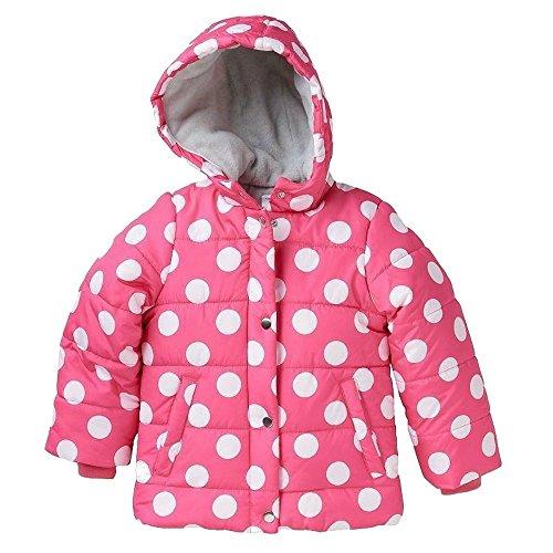 Polka Baby Jacket Dot - Carter's Toddler's Fleece Lined Coat, Pink and White Polka Dot Girl's Baby Jacket