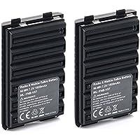 2 Pack Masione 7.2V 1800mAh Ni-MH FNB-V57 Battery for Yaesu Vertex Standard VXA-120 VX-1804 VX-110 VX-160 VXA-210