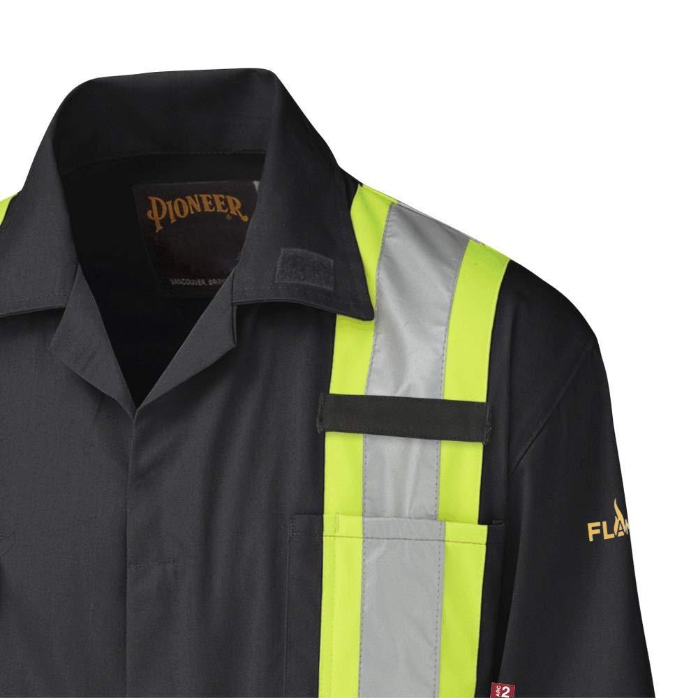 Hi-Vis 100/% Cotton 7 Pockets 44 Pioneer V2520210-44 FR Heavy-Duty Work Coverall Men Blue